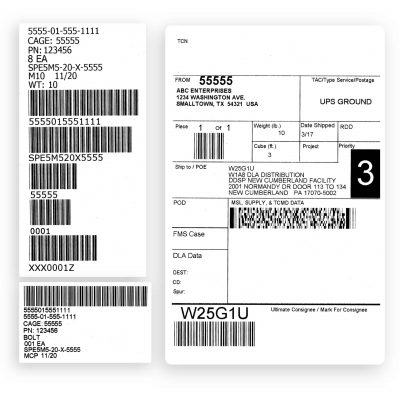 Mil Spec Shipping Labels